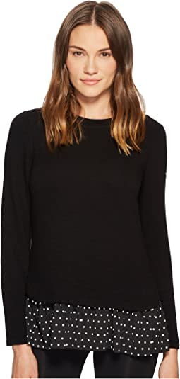 Kate Spade New York Athleisure Ruffle Hem Top