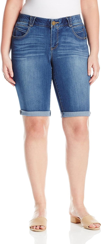 Democracy Womens Women's Plus Size Ab Solution Bermuda Short Bermuda Shorts