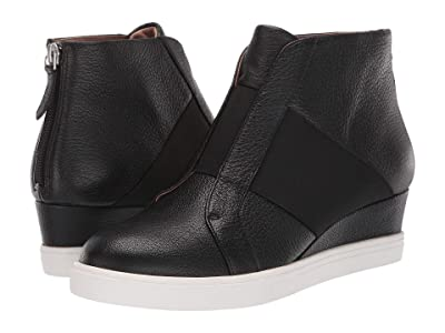 LINEA Paolo Amber (Black Leather) Women