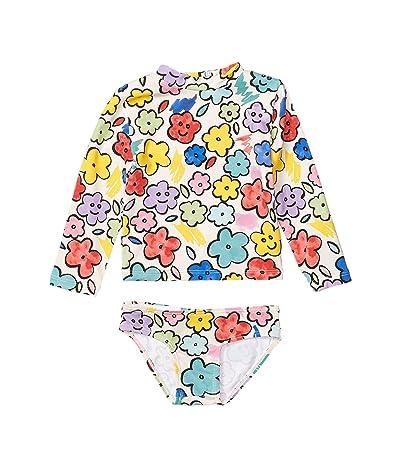 Stella McCartney Kids Two-Piece Smiling Flowers Rashguard Set (Infant) (Multi) Girl