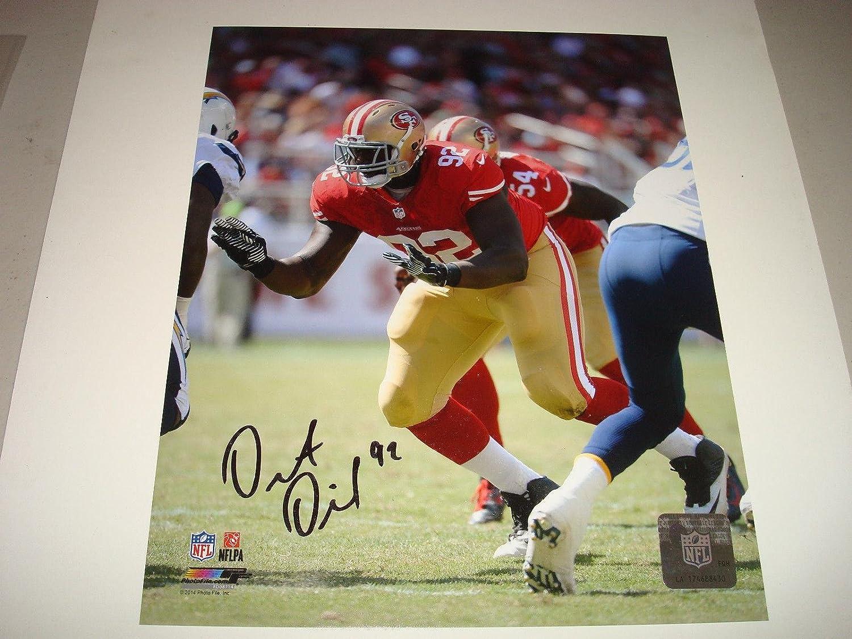 Autographed Quinton Dial Photo  8x10 Go Niners    1A  Autographed NFL Photos