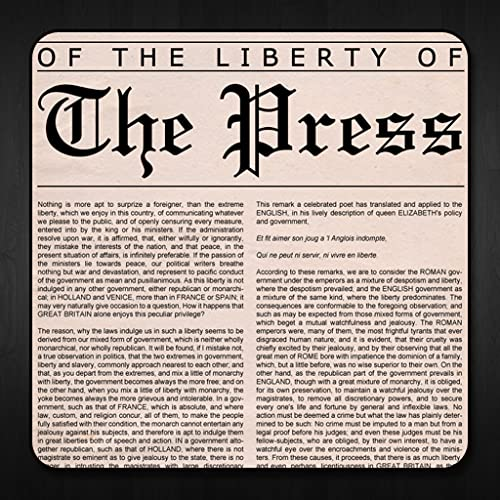 Of The Liberty Of The Press