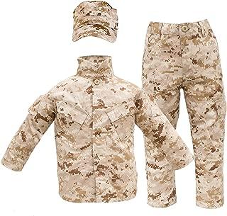 Kids USMC 3 pc Desert Camo United States Marine Corps Uniform (Small 6-8)