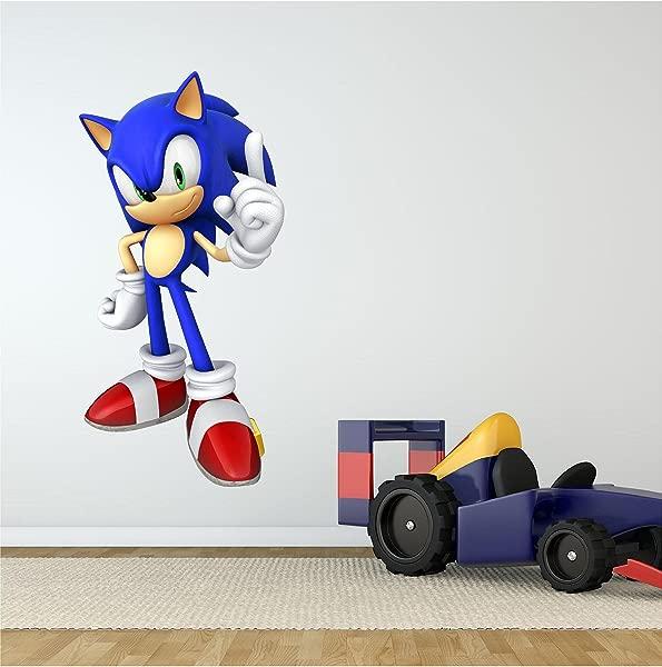 Sonic 1 Wall Decal Cartoon Sega Hedgehog Sticker Graphic Kids Room Man Cave Garage Den Art Decor 24