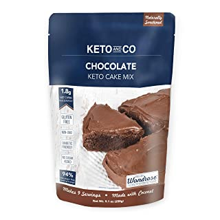 Chocolate Keto Cake Mix by Keto and Co | Just 1.8g Net Carbs Per Serving | Gluten Free, Low Carb, No Added Sugar, Naturall...
