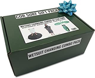 Wetsuit Combo Gift Box | Wetsuit Changing Towel Robe | Wetsuit Changing Mat & Folding Wetsuit Hanger Bundle