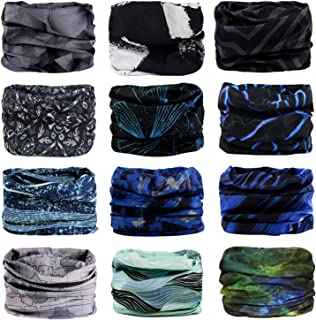 Headband, 12PCS & 9PCS Headwear 12-in-1 Multifunction Stretchable Magic Scarf Head Wrap Sport Sweatband, Workout,Yoga for Sport & Casual