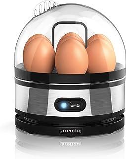 Arendo - Cuecehuevos de Acero Fino con función para Mantener los Huevos Calientes - Egg Cooker - Interruptor de función de Palanca con indicador Luminoso - Grado de dureza Ajustable - 1-7 Huevos