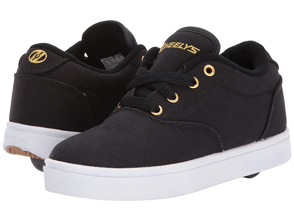 Heelys Launch (Little Kid/Big Kid/Adult) (Black/Gold) Kids Shoes
