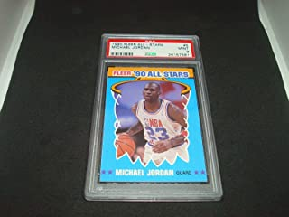 Michael Jordan 1990 Fleer All-Stars Card #5 PSA Mint 9 Chicago Bulls 1A - Unsigned Basketball Cards