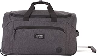 SWISSGEAR Rolling Duffel Bag| Carry-On Travel Luggage | Men's and Women's - Heather