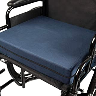 DMI Seat Cushion for Wheelchairs, Mobility Scooters, Office & Kitchen Chairs or Car Seats to Add Support & Comfort while Reducing Pressure & Stress on Back, 4