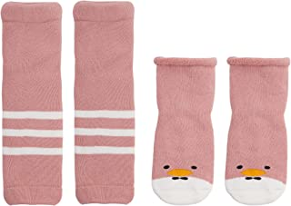 Calentadores y calcetines Conjunto de invierno para bebé 0-36 meses Niños Niñas Calcetines de algodón antideslizante Leggings Rodilleras para arrastrarse Cálido
