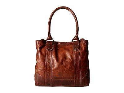 Frye Melissa Tote (Cognac Antique Pull Up) Tote Handbags