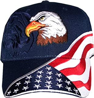 Red Earth Naturals USA Flag Hat - Embroidered American Flag & Eagle Baseball Cap with 100,000 Embroidery Stitches