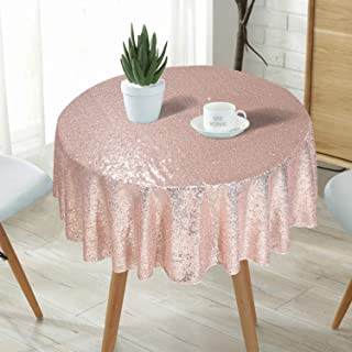 Eternal Beauty Round Sequin Tablecloth Sequin Table Linen, 48