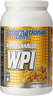 International Protein Amino Charged Whey Protein Isolate Powder, Caramel Popcorn 1.25 kg