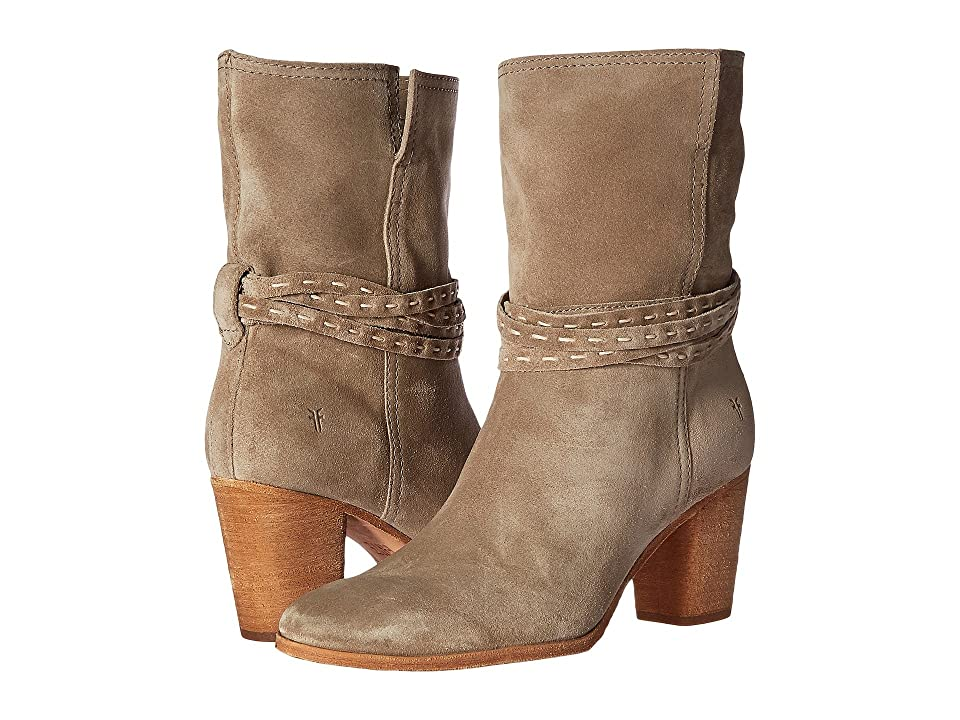 Frye Naomi Pickstitch Mid (Ash Soft Oiled Suede) Women