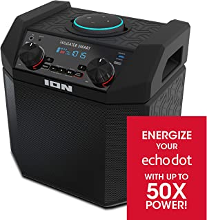 ION 50W Outdoor Echo Dot Speaker Dock/Portable Alexa Accessory With Bluetooth..