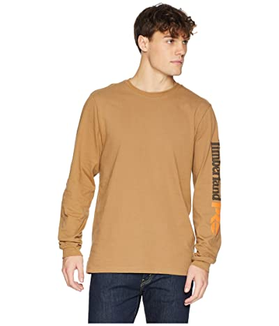 Timberland PRO Base Plate Blended Long Sleeve T-Shirt w/ Logo (Dark Wheat) Men