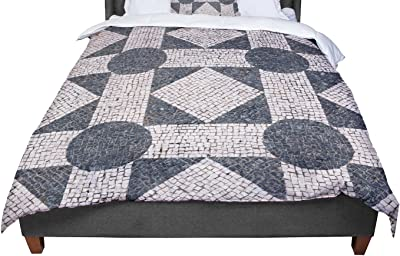 KESS InHouse Louise Unnamed Blue Black King 104 X 88 Cal King Comforter