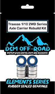 Traxxas 2wd Rustler Stampede, Slash, Skully, Cranium, Monster Jam Series Axle Carrier Wheel Hub Bearing Kit Set (8 Bearings)