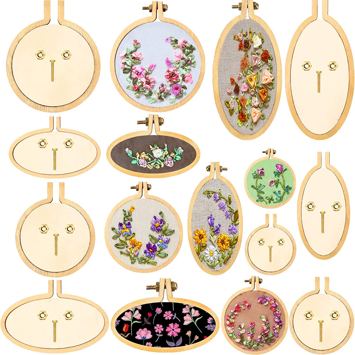 Selling and selling Mini Embroidery Hoop Selling rankings Wooden Stitch Ring Crossing