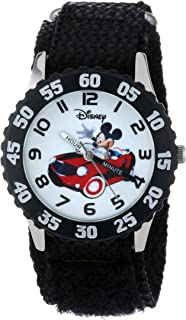 Kids' W000975 Mickey Stainless Steel Time Teacher Watch...
