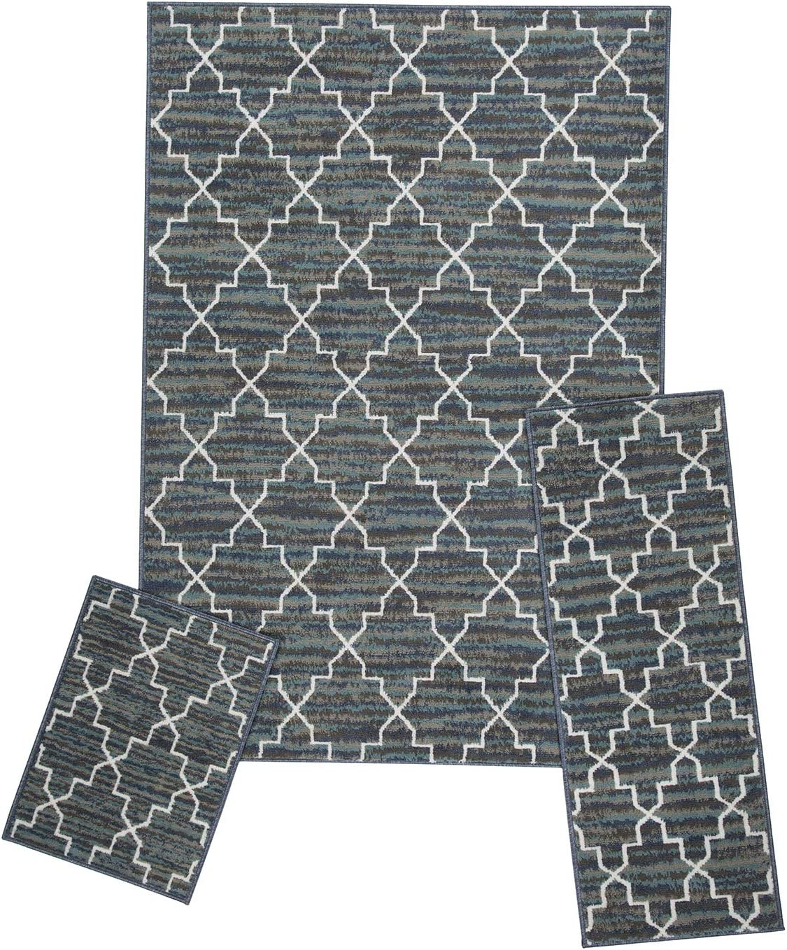 Gorgeous Woven Trends Modern Contemporary 3-Piece Area Rug 5x7 Limited time cheap sale Set