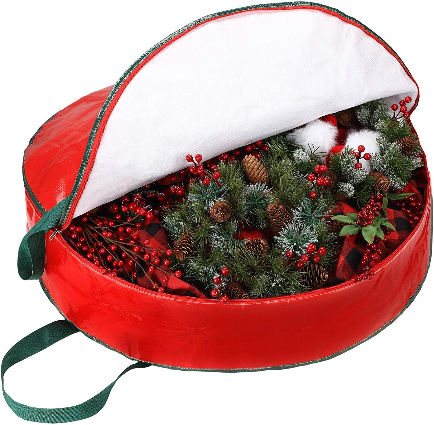 Wreath Storage Portland Mall Bag Container 30 Raleigh Mall 7 x Inch Zippere