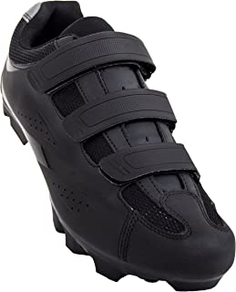 Tommaso Montagna 100 - Holiday Special Pricing - Men's Mountain Bike MTB Spin Cycling Shoe Compatible with SPD Cleats Black