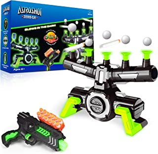 USA Toyz Astroshot Zero GX Glow in The Dark Shooting Games for Kids - Nerf Compatible Floating Ball Targets for Shooting w...