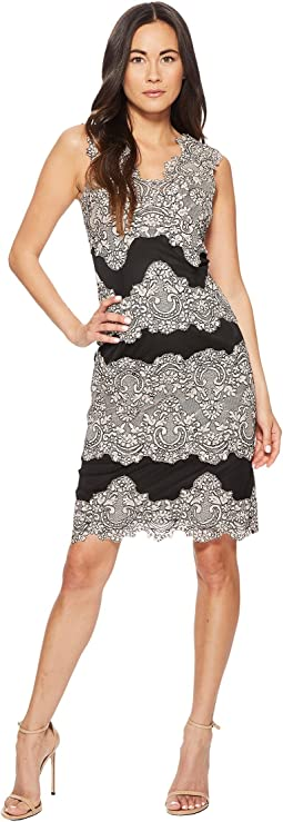 Tahari by ASL Lace Midi Sheath