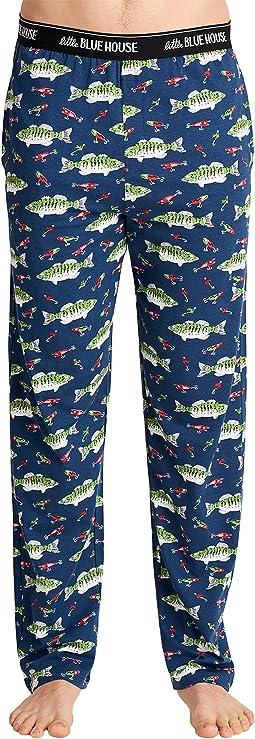 Gone Fishing Jersey Pajama Pants
