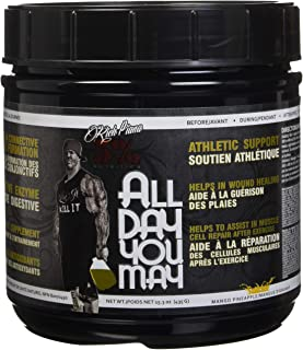 Rich Piana 5% Nutrition All Day You May BCAA & Joint Recovery Drink (Mango Pineapple) 17.2oz (465g) 30 Servings