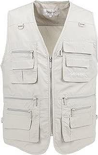 LUSI MADAM Men's Vests Outdoors Travel Sports Multi-Pockets Work Fishing Vest