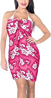 LA LEELA Women's Scarf Swimsuit Cover Up for Swimwear Sarong A