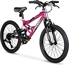 HY Ride on Smooth or Rough Terrain with 20inch Hyper Swift Magenta Girls Bike,with 7-Speed Twist Shifters,Front and Rear B...
