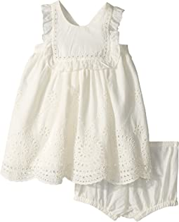 Stella McCartney Kids - Henley Sleeveless Eyelet Dress (Infant)