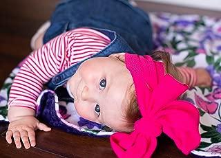 Rose baby blanket, Personalized Baby Blanket, Newborn Girl gift, Baby Shower Gift, Newborn Gift, baby girl blanket, Purple and Pink Rose Blanket