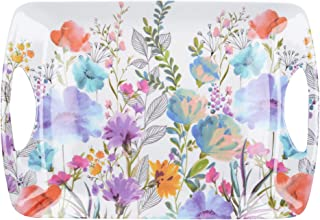 Creative Tops Large Plastic Tray/Serving Tray with 'Meadow Floral' Design, Melamine, Multi-Colour, 47.5 x 33 cm
