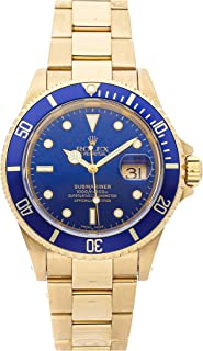 Rolex Submariner Mechanical (Automatic) Blue Dial Mens Watch 16618 (Certified Pre-Owned)
