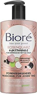 Bioré Rosenquarz  Aktivkohle Waschgel - Porenreinigend - Für normale und fettige Haut - Für die tägliche Anwendung, 1er Pack1 x 200 ml