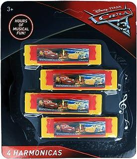 Disney Pixar Cars 3 Boys Musical Instruments Kids Toy Harmonicas - 4 Pieces Yellow
