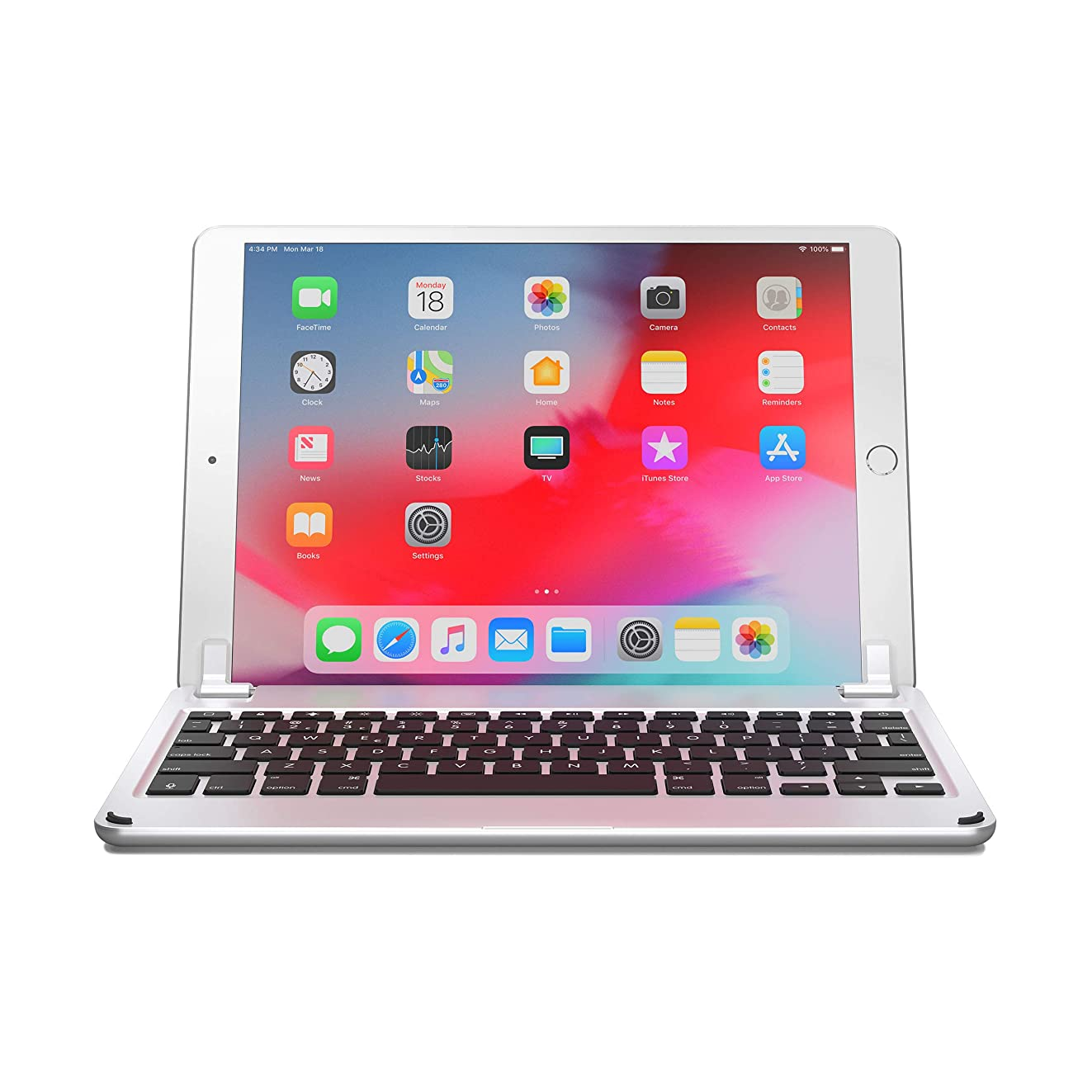 Brydge 10.5 Keyboard for iPad Air (2019) and iPad Pro 10.5 inch, Aluminum Bluetooth Keyboard with Backlit Keys (Silver)