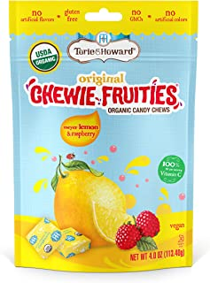 Torie & Howard Chewie Fruities Organic Candy Lemon & Raspberry, 4 Ounce Bag