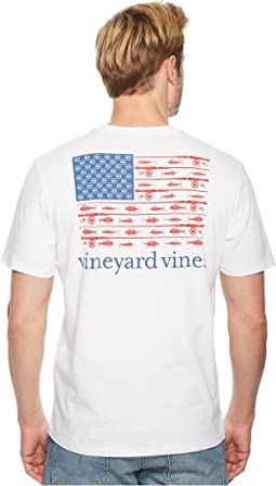 Vineyard Vines Short Sleeve Flag Reel Pocket Tee