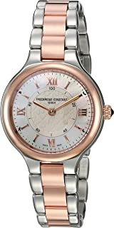 Frederique Constant Women's Horological Smart Watch Swiss-Quartz Stainless-Steel Strap, Two Tone, 7 (Model: FC-281WH3ER2B