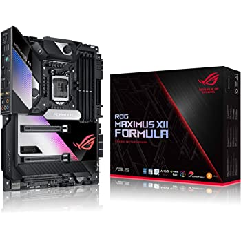 "ASUS ROG Maximus XII Formula Z490 (WiFi 6) LGA 1200 (Intel 10th Gen) ATX Gaming Motherboard (16 Power Stages, EK CrossChill III, 10 Gbps & Intel 2.5Gb LAN, Triple M.2, 2"" Livedash OLED, Aura Sync)"