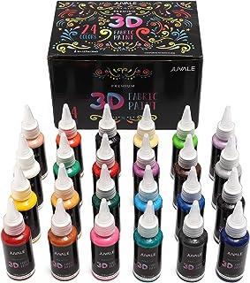 Premium 3D Fabric Paint Set for Clothing (35ml, 24 Colors)